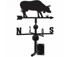 Girouette vache en fer forgé