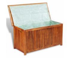Boîte de rangement de terrasse Bois d'acacia
