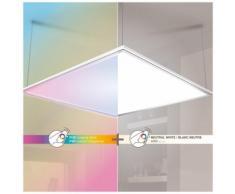 Plafonnier à LED carré de 595 x 595 mm - 2500 lumens lumière blanche ou rvb -