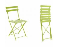 Chaise de jardin métal pliante Camargue Verte