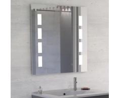 Miroir anti-buée PRESTIGE 80x80 cm - éclairage intégré à LED et interrupteur sensitif