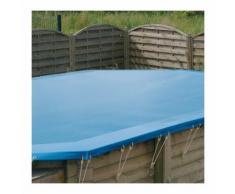 Bâche d'hivernage pour piscine bois Ubbink octogonale allongée Modèle - Sunwater / Azura 4,90 x