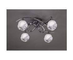 Plafonnier design BALI CROMO 4L - ampoule G9 osram - mantra