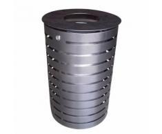 poubelle extérieur nice - 60 l - gris martelé,