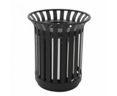poubelle d'extérieur 69l noir,