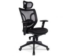 Fauteuil de bureau ergonomique 'ALLAN' en tissu noir