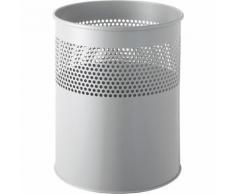 Corbeille à papier métallique capacité 15 l, h x Ø 315 x 260 mm ,helit