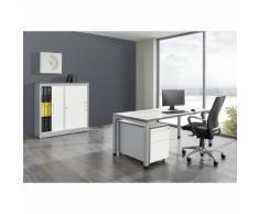 Bureau complet ARCOS bureau, armoire à portes coulissantes, caisson roulant avec tiroir pour dossiers suspendus ,mauser