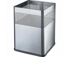 Corbeille à papier carrée capacité 18 l, l x h x p 240 x 325 x 240 mm ,helit