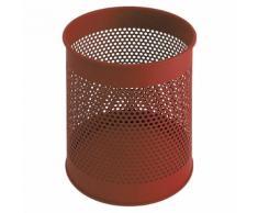 Corbeille à papier ronde perforée capacité 15 l, h x Ø 320 x 260 mm