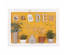 Tableau décor jardin avec plantes artificielles 40x55
