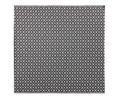 Tapis d'extérieur motifs graphiques noirs et blancs 180x180