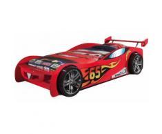 Lit enfant voiture de course rouge 90x200