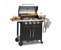 Tomahawk 4.0 T Barbecue à gaz 4 brûleurs 3,2 kW grille de cuisson 63cm