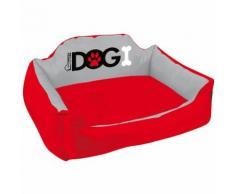 Panier pour chien rembourré Dogi - Taille L - Rouge