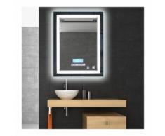 MIROIR LUMINEUX SALLE DE BAIN LED Éclairage 600x 800cm 24W étanche lumière réglable