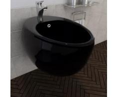 Bidet suspendu en céramique sanitaire noir