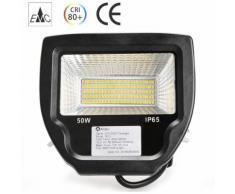Projecteur LED 50W Éclairage Extérieur et Intérieur IP65 Spot LED Blanc Neutre 4000-4500K
