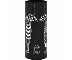 Porte-parapluie Femmes Acier Noir