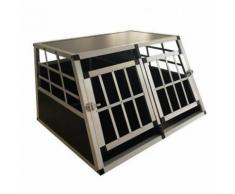 Cage Transport Aluminium Chien Double Small