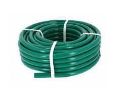 Tuyau PVC d'arrosage vert O19 en 25m