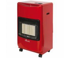 Poêle à gaz 4200 W rouge 3 éléments infrarouge chauffage 120 m³ maison NIKLAS