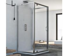 Cabine douche avec 3 côtés 70x80x70 AP. 80 CM H185 trasparent modèle Sintesi Trio avec 1 portillon