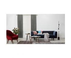 Julius, une paire de rideaux à œillets doublés en velours 228 x 228 cm, gris argenté