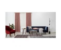 Julius, une paire de rideaux à œillets doublés en velours 168 x 228 cm, rose pâle
