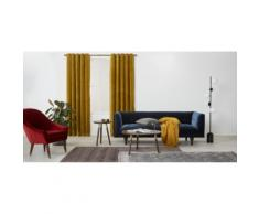 Julius, une paire de rideaux à œillets doublés en velours 228 x 228 cm, doré