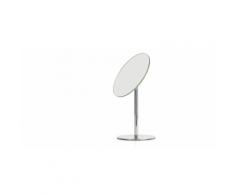 Lilo, miroir sur socle pour salle de bain, acier inoxydable