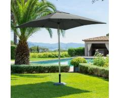 Parasol droit carré Ibaia Ardoise Jardin