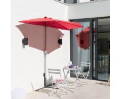 Demi parasol droit Séréna Framboise Jardin