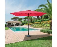 Parasol droit rectangulaire inclinable Fidji Framboise Jardin