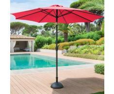 Parasol droit rond inclinable Fidji Framboise Jardin