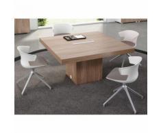 table réunion pieds panneau 140 x 140 cm orme,