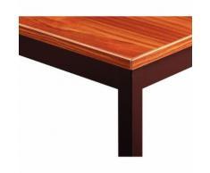table de reunion 70x60 teck/pieds brun s,