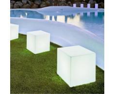 CUBY-Lampe d'extrieur cube lumineux H43cm Blanc New Garden