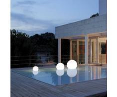 ACQUAGLOBO-Lampe flottante d'extérieur Ø60cm Blanc Slide