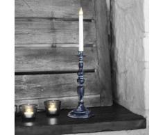 MOVITZ-Chandelier Mtal LED H49cm noir patin Xmas Living Glass