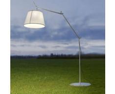 TOLOMEO PARALUME OUTDOOR-Lampadaire d'extérieur LED H232cm Blanc Artemide - designé par Michele De Lucchi & Giancarlo Fassina