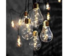 GLOW-Guirlande ampoules 10 LED L5m Transparent Xmas Living Glass