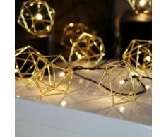 EDGE-Guirlande Lumineuse Filament 10 LED L5,25m Doré Xmas Living Glass