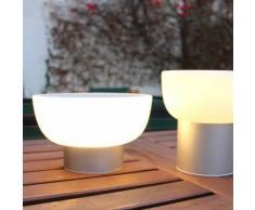 PATIO-Lampe LED d'extérieur rechargeable Ø20cm argent Alma Light - designé par Oriol Llahona