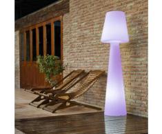 LOLA-Lampadaire d'extérieur rechargeable RGB H110cm Blanc New Garden
