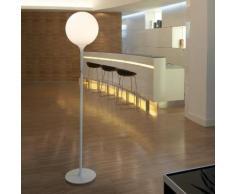 CASTORE-Lampadaire Verre Soufflé H190cm blanc opalin Artemide - designé par Michele de Lucchi & Huub Ubbens