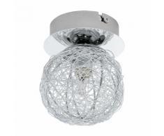 PRODO-Applique / Plafonnier Sphère Acier Fil de Fer Ø10cm Chrome Eglo