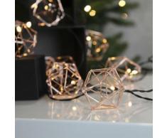 """EDGE-Guirlande Lumineuse Filament 10 LED L5,25m Cuivre Xmas Living Glass"""