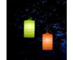 LAMPION-Suspension d'extérieur Silicone H27cm Orange Rotaliana - designé par Emmanuel Gallina