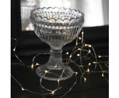"""""""DEW DROPS-Guirlande fine 40 LED pile L3,9m Argent Xmas Living Glass"""""""